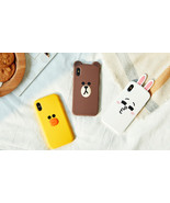 LINE FRIENDS Character iPhone X Silicone Case 3 Types BROWN CONY SALLY - $29.99