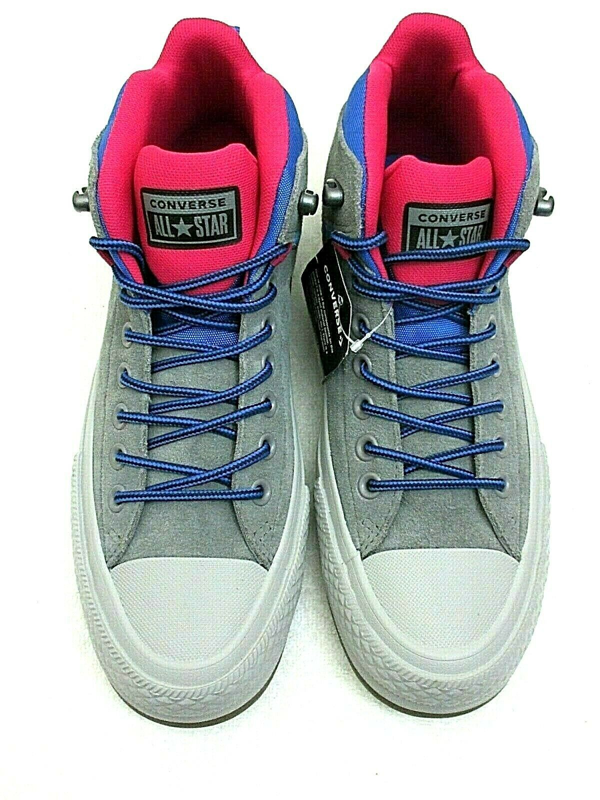 Primary image for Converse Mens CTAS Street Boot Hi Hiking Casual Shoes Grey Blue Pink Size 8.5