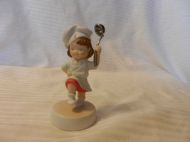 2003 Campbell's Soup Collectible Porcelain Girl Figurine Chef Holding Ladle - $22.27