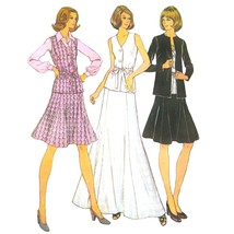 1970s Vintage McCalls Sewing Pattern 3841 Misses Top Flared Skirt Jacket... - $6.95