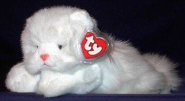 "Ty Classics ANGEL the White Persian Cat 10"" Long Beanbag Stuffed Plush 1997 - $33.24"