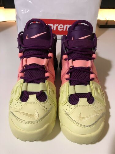 Nike Air More Uptempo GS Basketball Shoes Citron Pink Sz 6Y AV8237 800
