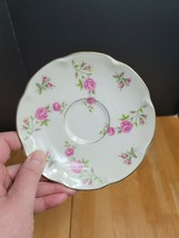 Theodore Haviland Delaware Saucer White with Pink Flowers USA (1) - $3.95