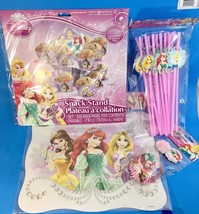 New DISNEY PRINCESS BIRTHDAY PARTY Supplies Kit 12 Placemats Snack Stand... - $11.75