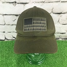 Columbia Sportswear Sz S-M Hat Gray US Flag Trees Fitted Meshback Baseba... - $14.84