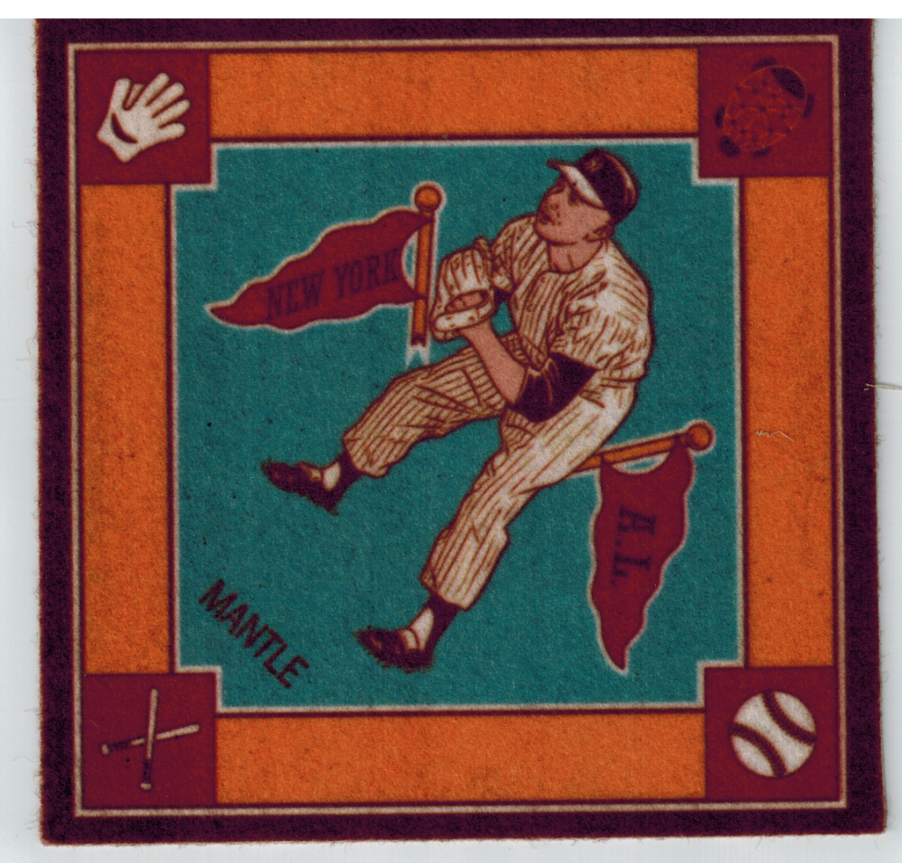 Primary image for 2006 Topps Turkey Red B-18 Blankets MM2 Mickey Mantle Blue New York Yankees
