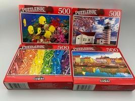 Puzzlebug Lot of 4-500 Piece Jigsaw Puzzles Random Selection NEW Bold, C... - $26.24
