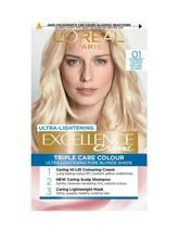 L'oreal Excellence 01 Supreme Lightest Natural Blonde Permanent Hair Dye Colour - $16.77