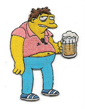 The Simpsons Drunk Barney Drinking a Beer Embroidered Patch NEW UNWORN - $7.84