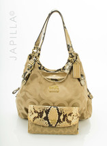 Coach 17689 Madison Maggie Mia optic Hobo python Shoulder Bag handbag purse - $187.11