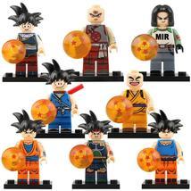8pcs/set Dragon Ball Z Bardock Android 17 Krillin Tien Shinhan Goku Minifigures - $14.98