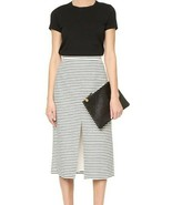 Alice + Olivia Sabrena A-line Split Front Midi Skirt Size 6 - $74.25