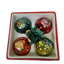 "Disney's Pooh & Friends Set of 4 Christmas Ball Ornaments 2.5"" in Original Box - $21.77"