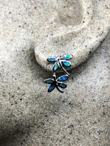 Vintage Blue Opal 925 Sterling Silver Dragonfly Earrings - $99.08