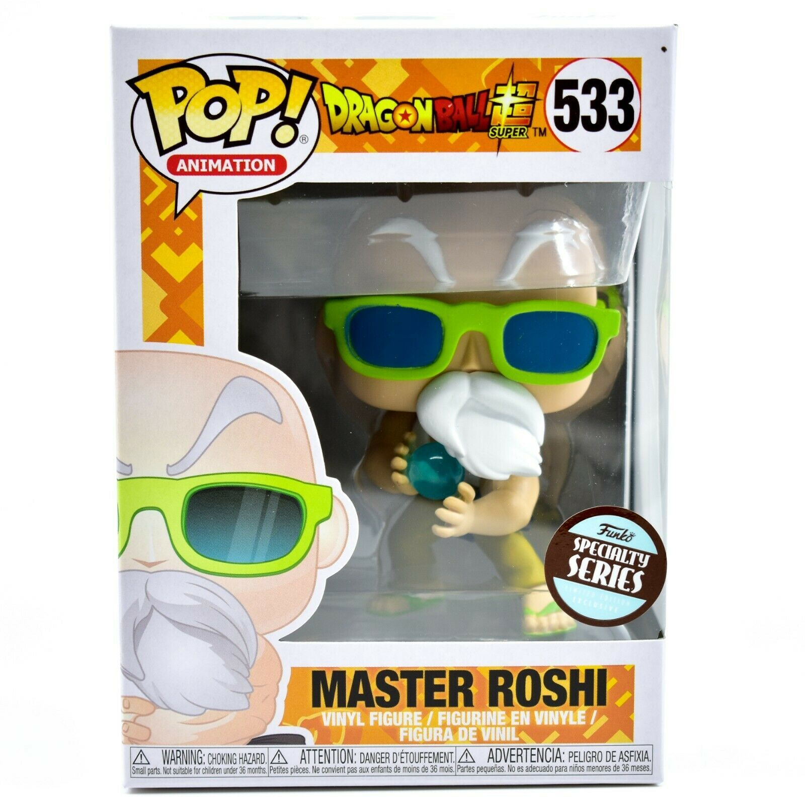 Funko Pop Dragon Ball Super Master Roshi Max Power Specialty Series #533