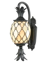 Wall Sconce DALE TIFFANY ESSEX Round Shade 2-Light Golden - $268.00