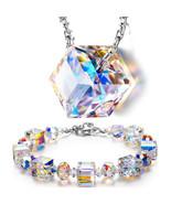 """Aurora Borealis Bracelet with Swarovski Crystals 18K White Gold  6 1/2"""" ... - $9.79"""