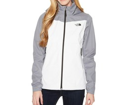 NWT THE NORTH FACE WOMEN'S RESOLVE PLUS JACKET TNF WHITE MID GREY DOBBY - $78.40+