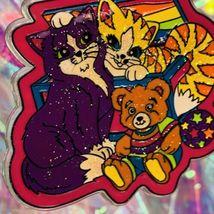 ExcCond Vintage Lisa Frank Playtime Kitties Kittens Rare HTF Keychain Keepsake image 2