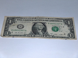 2009 $1 Dollar Bill Bank Note 0860 1927 Year Birthday Date Fancy Money S... - $10.98