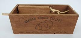 Vintage Oakman Wooden Push Button Turkey Call Hunting Harrisonville Penn... - $37.39