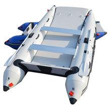 BRIS 11 ft Inflatable Catamaran Inflatable Boat Dinghy Mini Cat Boat Gray image 4