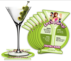 TRUTH OR DARE PARTY COASTERS DRINKING GAME - $9.89