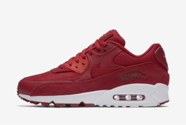 MEN'S NIKE AIR MAX 90 PREMIUM SHOES gym red white 700155 602 - $94.98
