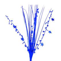 "12 Pcs Stars 21"" Onion Grass Spray Metallic Pick Decoration - royal blue - $14.80"
