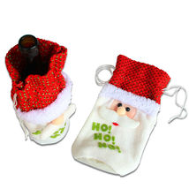1pcs Santa Claus Wine Bottle Cover Christmas Decorations Xmas Gift Bags - $7.59 CAD