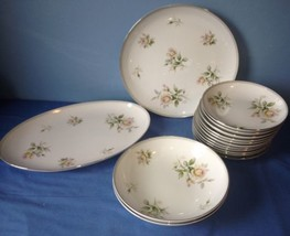 15 Piece Vintage Ceramic Kyoto Shirley #1456 Fine China Japan Bowls/Plat... - $18.74