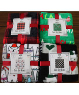 Christmas  Warm & Snuggly Super Soft Blanket 60x50 Inch Cozy 12 Patterns - $22.89