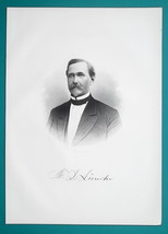 FREDERIC D. LINCOLN Ohio Cincinnati Lawyer - 1883 Superb Portrait Print - $16.20