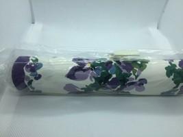 Vintage Spiegel Catalog WallPaper Border Purple Flowers 5 Yards New Old ... - $19.79