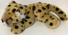 Aurora A&A Cheetah plush lying down stuffed animal tan black spots brown  - $13.36