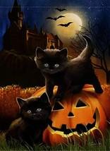 Dyrenson Home Decorative Halloween Garden Flag Cat Double Sided, Pumpkin... - $8.90