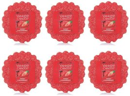 Yankee Candle Lot of 6 Sweet Strawberry Tarts Wax Melts - $18.00
