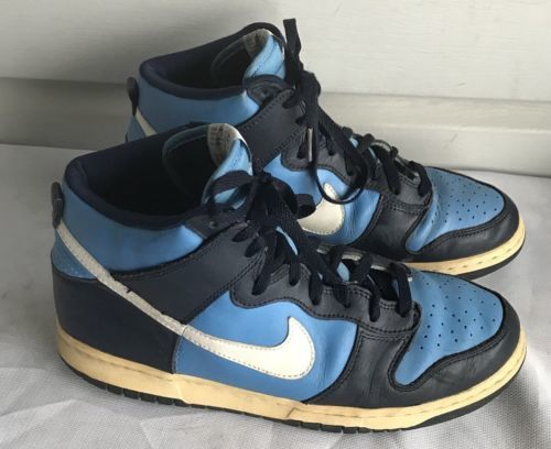 5767ea228 Nike Archive DS 1999 NIKE DUNK HIGH 630383-411 Blue-White Navy Sneakers SZ11