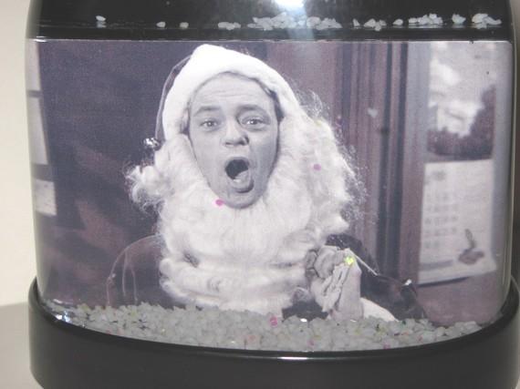 Barney santa claus andy griffith snow globe