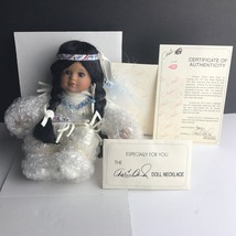Marie Osmond Tiny Tot Porcelain Doll with Box and papers necklace certif... - $28.01