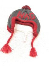 Dog Fashion Hat Size M/L Pet Puppy Apparel Grey Red Wag Woof - $8.33