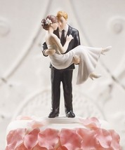 """Swept Up in His Arms"" Wedding Cake Topper CUSTOMIZATION AVAILABLE Holdi... - $34.64"