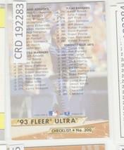 1993 Fleer Ultra #300 Checklist Baseball Card 192283 - $1.48