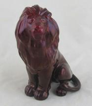 Zsolnay Eosin Lion Figurine, Iridescent Deep Purple, Hungary - $99.00