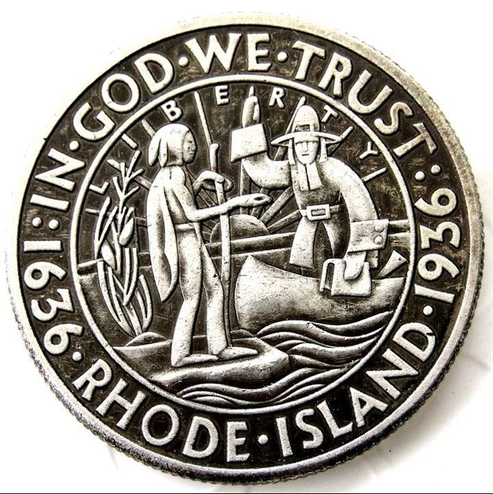 Primary image for 1936 Rhode Island Half Dollar Commemorative Half Dollar Casted Coin
