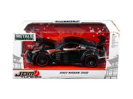 "2003 Nissan 350Z Black ""JDM Tuners\"" 1/24 Diecast Model Car by Jada - $34.30"