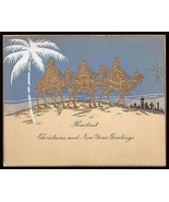 Camels Antique Greeting Card Three Wise Men Star Embossed Litho Design A... - $18.99