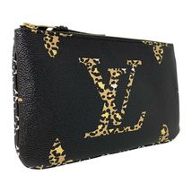 NEW Louis Vuitton Pochette Double Zip Black Jungle Giant Monogram Crossbody Bag image 4