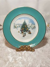 1978 AVON Christmas Plate Series Trimming the Tree Wedgewood image 1