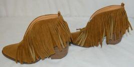 Beast Fashion Carrie 01 Camel Fringe Slip On Shoes Size 5 And Half image 5